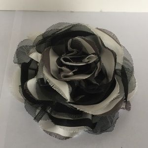 """Accessories - Black and white pin. 5"""" in diameter."""